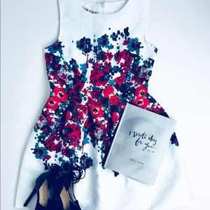 White Dres with Red Flowers